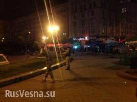 Майдан, ночная стрельба из автоматов: «40 чел. в масках, атаковали 2 группами, ловили людей неславянской внешности, 2 тяжелых» (видео)