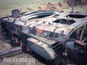 Краснодон: сожженная украинская батарея и бронетехника (фото/видео)