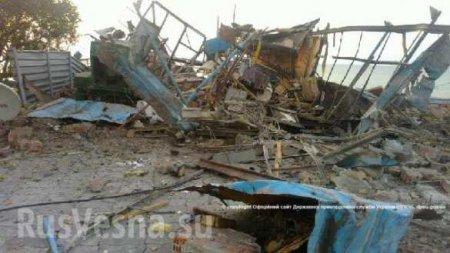 Видео, уничтоженного морскими диверсантами украинского пограничного пункта наблюдения (+фото)