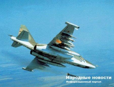 Штурмовик Су-25 ЛНР нанёс авиаудар по карателям
