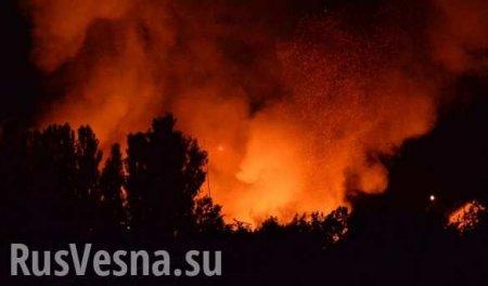 Врайоне Станицы Луганской в укрепрайоне ВСУ взорвался склад сбоеприпасами (ВИДЕО)