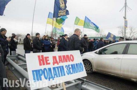 Нацисты перекрыли трассу под Харьковом, требуя отменить продажу земли (ФОТО)
