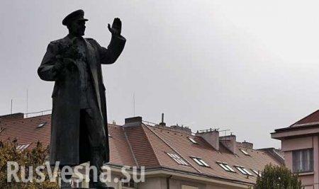 В Чехии вновь осквернили памятник маршалу Коневу (ФОТО)