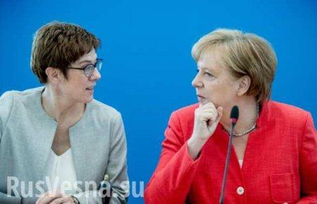 Преемница Меркель отказалась идти вканцлеры: политическая сенсация вГерма ...
