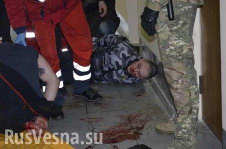 ВЖмеринке полиция отметелила «патрiотив», попытавшихся сорвать сессию горсовета (ФОТО, ВИДЕО)