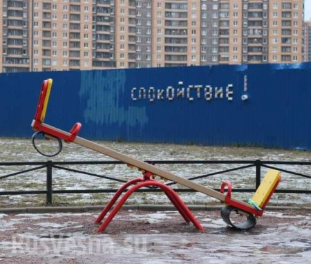 «Спокойствие!»: вПитере появилась уличная инсталляция изгречки итуалетной бумаги (ФОТО)