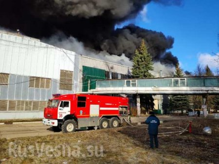 Серьёзный пожар на заводе в Подмосковье: горит 60 тыс. кв. м (+ВИДЕО, ФОТО)