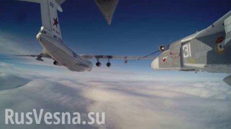 Перехватчики и тактические разведчики ВМФ России дозаправились на высоте 6000 м (ВИДЕО)