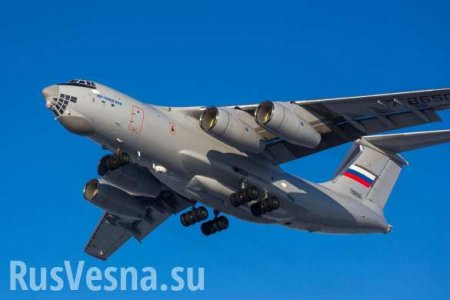 Ил-76 ВКС РФ готовятся к вылету в Италию (ВИДЕО)
