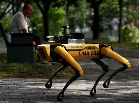 Будущее ужездесь: робот Boston Dynamic патрулирует улицы иследит засоцдистанцией (ВИДЕО)