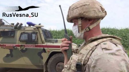 Сирия: толпа остановила патруль армии России и обратилась к военным (ВИДЕО)