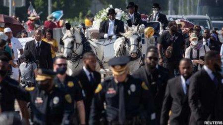Золотой гроб и конная повозка: икону «чёрного майдана» наконец похоронили в США (ФОТО, ВИДЕО)