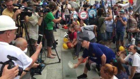 Шахтёры объявили бессрочный протест вцентре Киева (ФОТО, ВИДЕО)