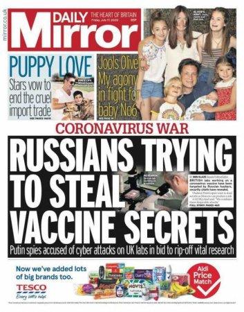 «Россия украла нашу вакцину!» — адский вой в британской прессе на фоне успехов российских учёных (ФОТО)