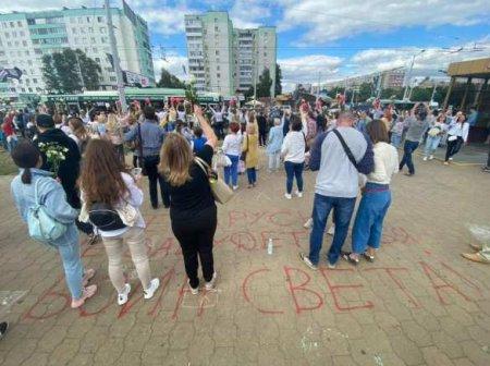 Дипломаты ЕС и США возложили цветы на месте гибели «воина света» в Минске (ФОТО, ВИДЕО)
