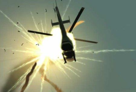Чудовищный взрыв: кадры уничтожения азербайджанского вертолёта (ВИДЕО)