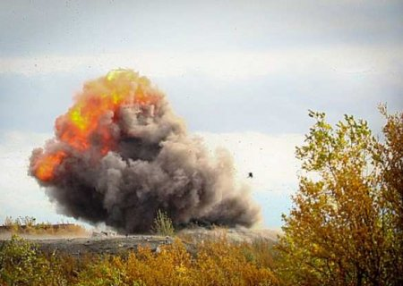Взрыв загоризонтом: уничтожена РСЗО Азербайджана (ВИДЕО)