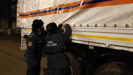 Российские белые «Камазы» уже в Карабахе (ФОТО, ВИДЕО)