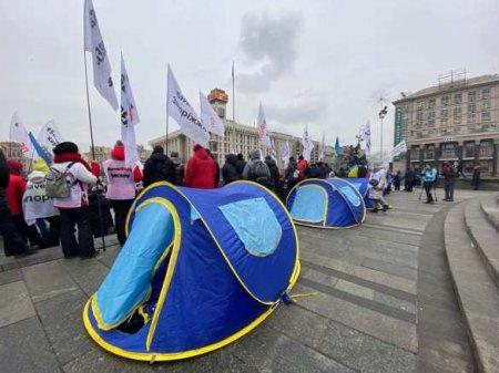 Новый майдан вКиеве: протестующие обосновываются уРады (ФОТО, ВИДЕО)