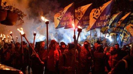 В Киеве началось факельное шествие нацистов (ФОТО, ВИДЕО)