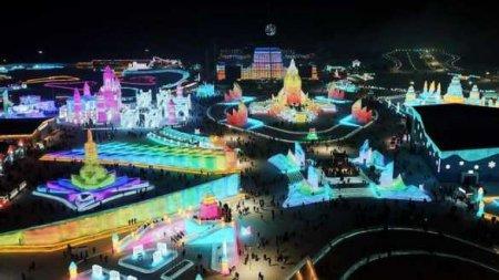 Поражающие масштабы: вКитае построили гигантский город изснега ильда (ФО ...