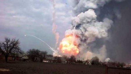 Серьёзный пожар в воинской части ВСУ на Донбассе (ВИДЕО)