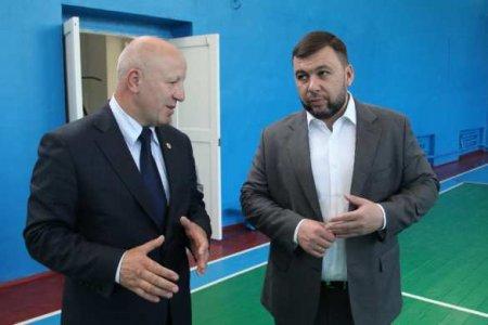 Глава ДНР посетил отремонтированную спортивную школу в Новоазовске (ФОТО)