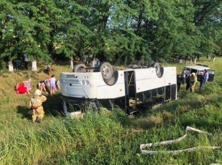 Массовая авария на Кубани: автобус с пассажирами вылетел с дороги (ФОТО, ВИ ...