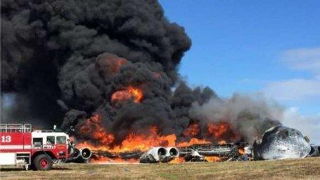 Шокирующие кадры: военный самолёт с 92 людьми на борту упал и загорелся (ФО ...