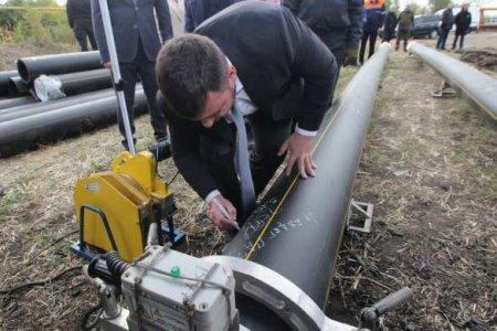 Глава ДНР проинспектировал ход строительства газопровода в Дебальцево (ФОТО, ВИДЕО)